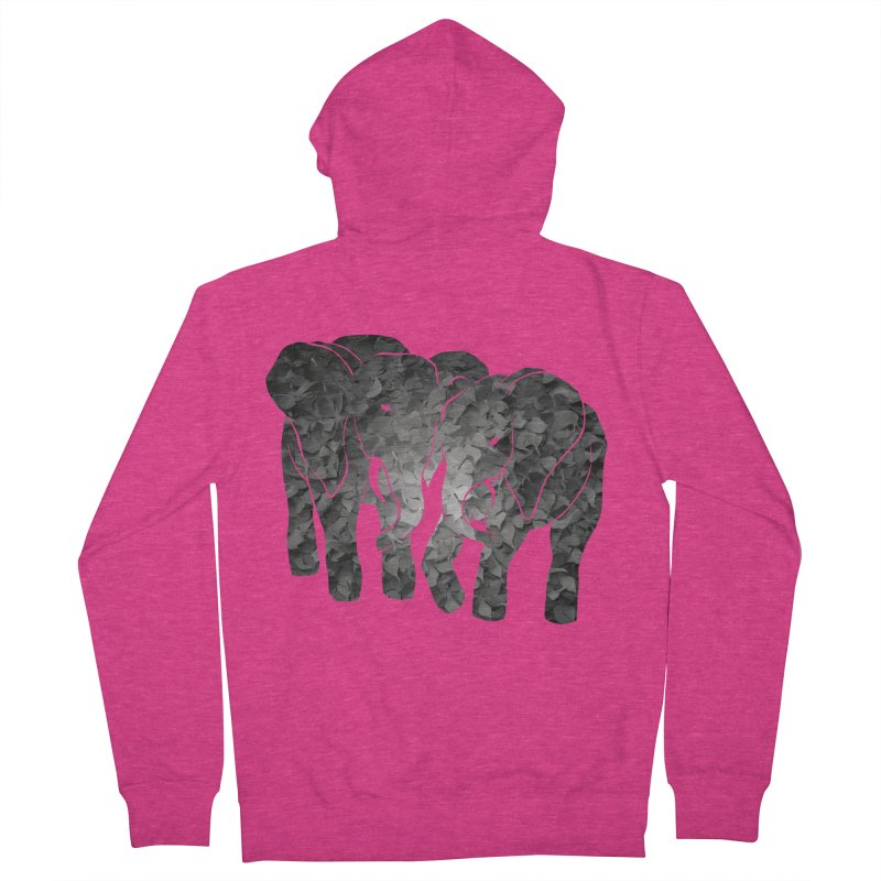 Two elephants Women's Zip-Up Hoody by MagpieAtMidnight's Artist Shop