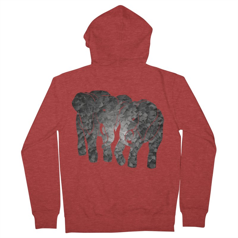 Two elephants Men's French Terry Zip-Up Hoody by MagpieAtMidnight's Artist Shop