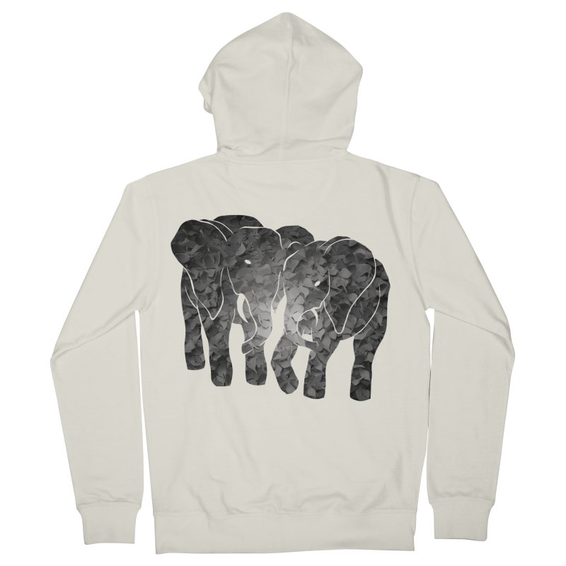 Two elephants Men's Zip-Up Hoody by MagpieAtMidnight's Artist Shop