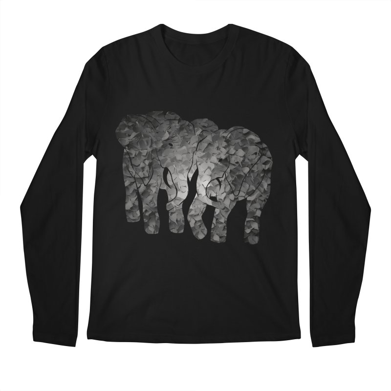 Two elephants Men's Longsleeve T-Shirt by MagpieAtMidnight's Artist Shop