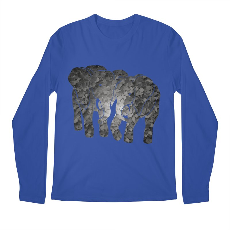 Two elephants Men's Regular Longsleeve T-Shirt by MagpieAtMidnight's Artist Shop
