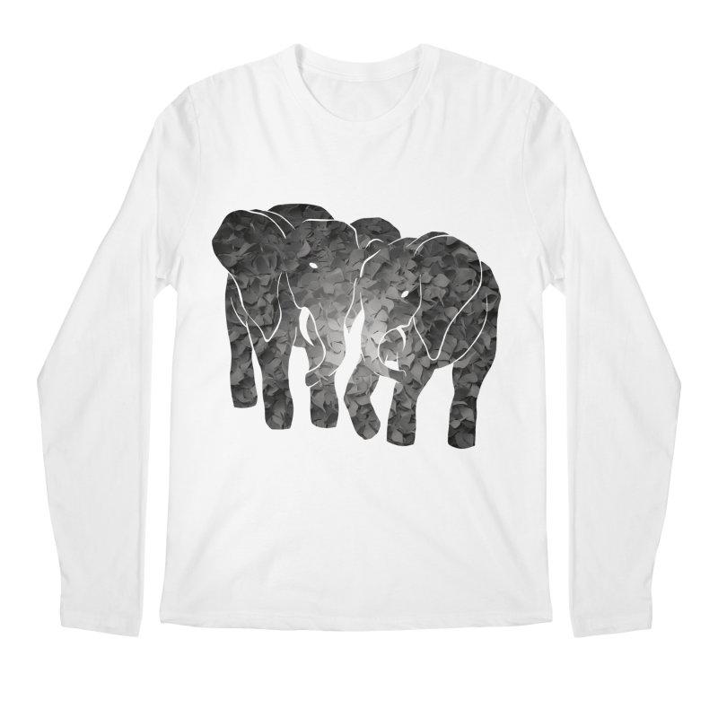 Two elephants Men's Regular Longsleeve T-Shirt by MagpieAtMidnight's Artist Shop