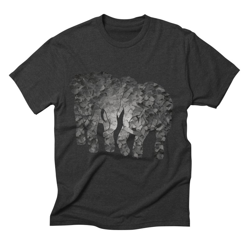 Two elephants Men's Triblend T-Shirt by MagpieAtMidnight's Artist Shop