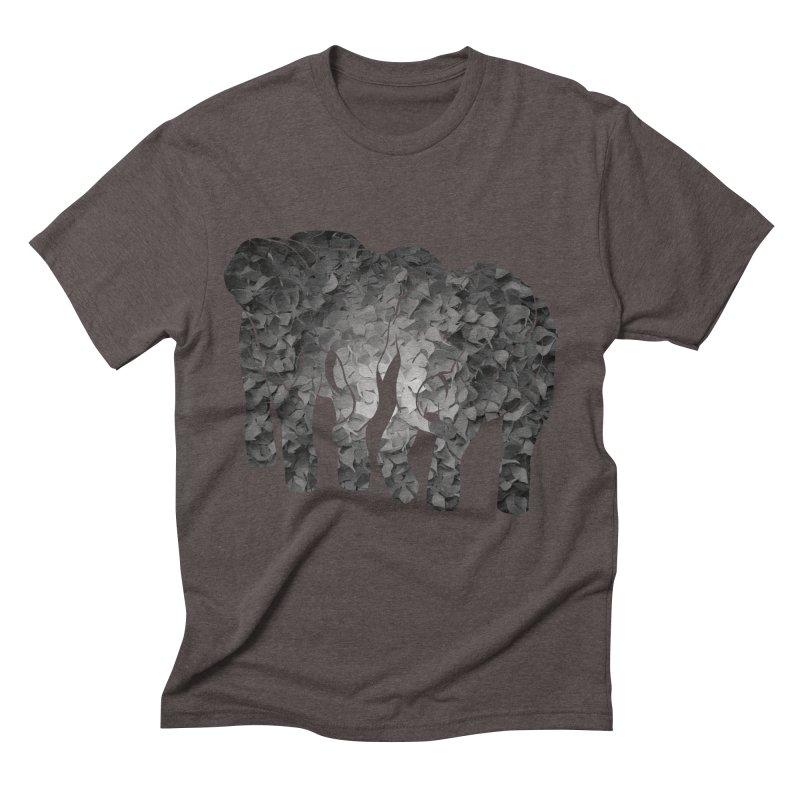 Two elephants Men's Triblend T-Shirt by MagpieAtMidnight's Artist Shop