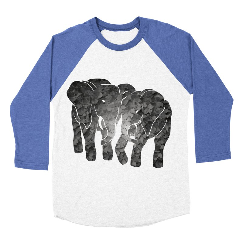 Two elephants Women's Baseball Triblend T-Shirt by MagpieAtMidnight's Artist Shop