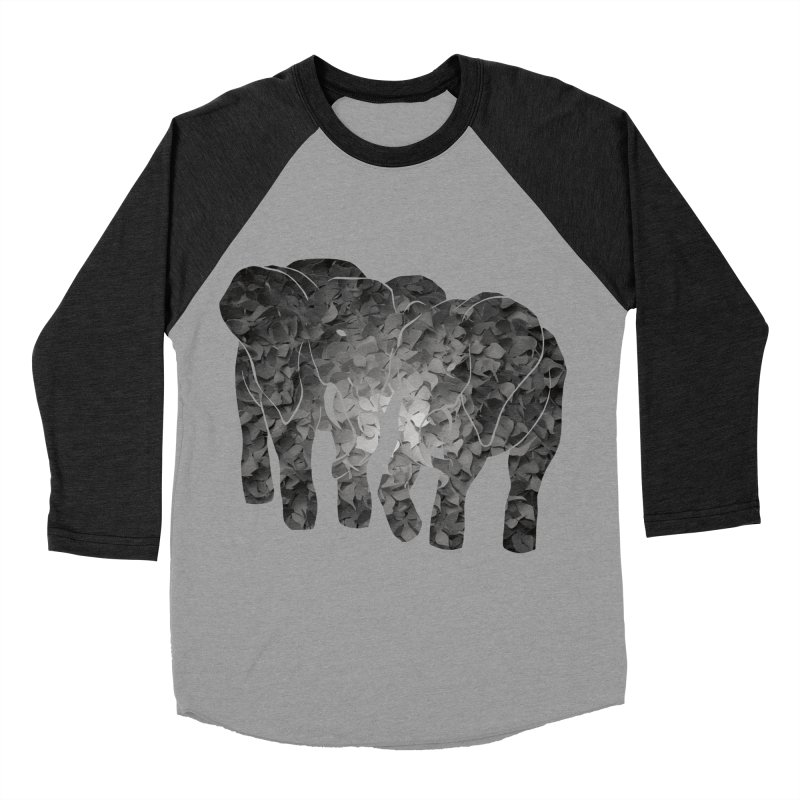 Two elephants Men's Baseball Triblend T-Shirt by MagpieAtMidnight's Artist Shop