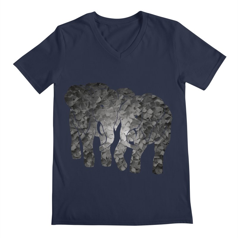 Two elephants Men's V-Neck by MagpieAtMidnight's Artist Shop