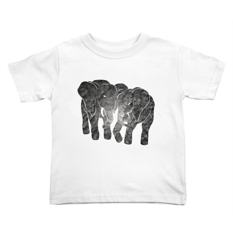 Two elephants Kids Toddler T-Shirt by MagpieAtMidnight's Artist Shop