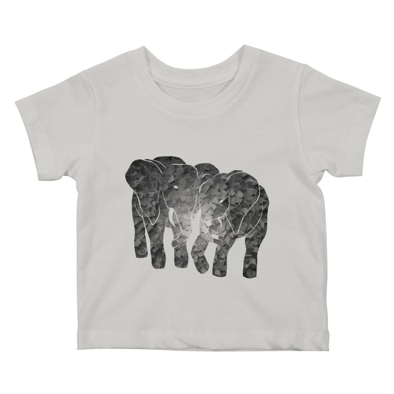 Two elephants Kids Baby T-Shirt by MagpieAtMidnight's Artist Shop