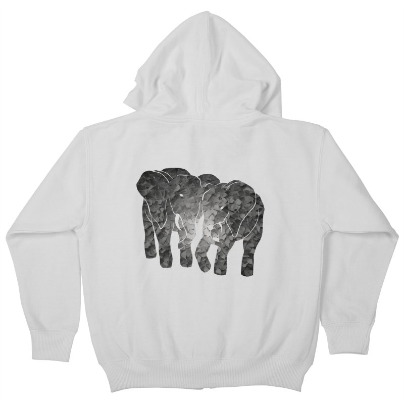 Two elephants Kids Zip-Up Hoody by MagpieAtMidnight's Artist Shop