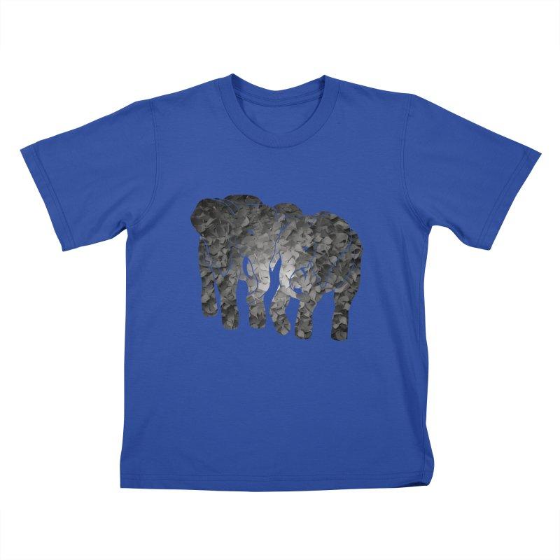 Two elephants Kids T-shirt by MagpieAtMidnight's Artist Shop