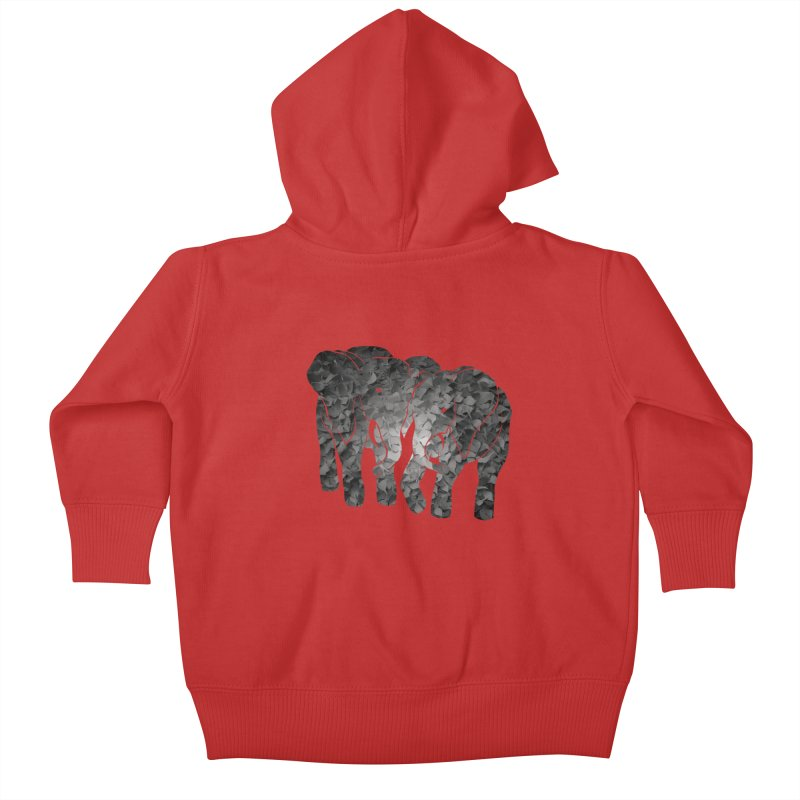 Two elephants Kids Baby Zip-Up Hoody by MagpieAtMidnight's Artist Shop