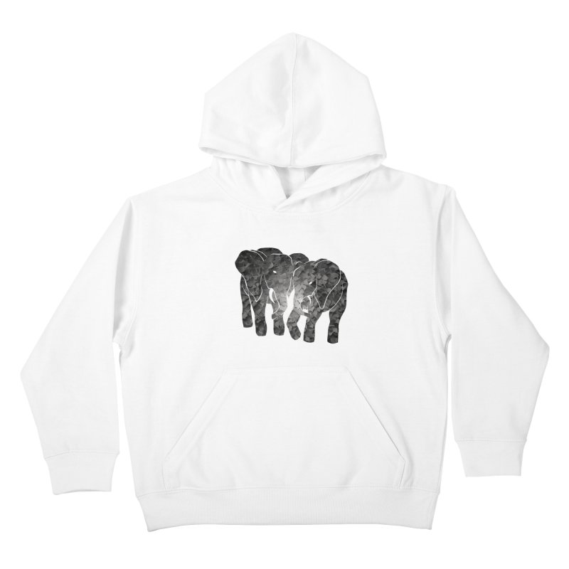 Two elephants Kids Pullover Hoody by MagpieAtMidnight's Artist Shop