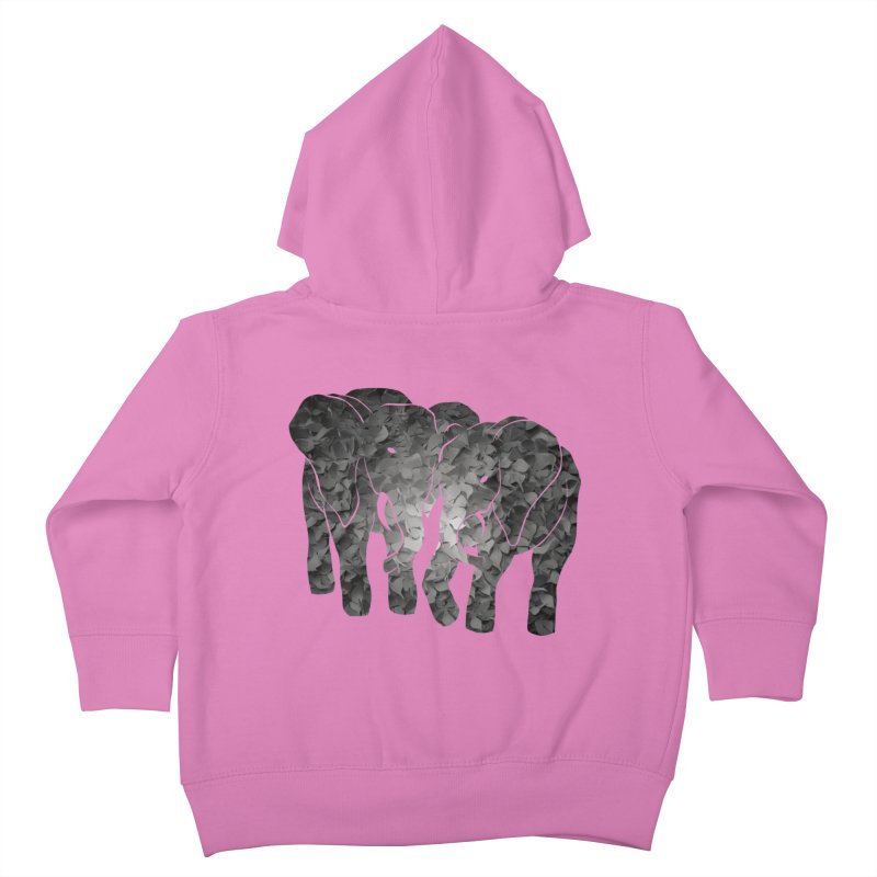 Two elephants Kids Toddler Zip-Up Hoody by MagpieAtMidnight's Artist Shop