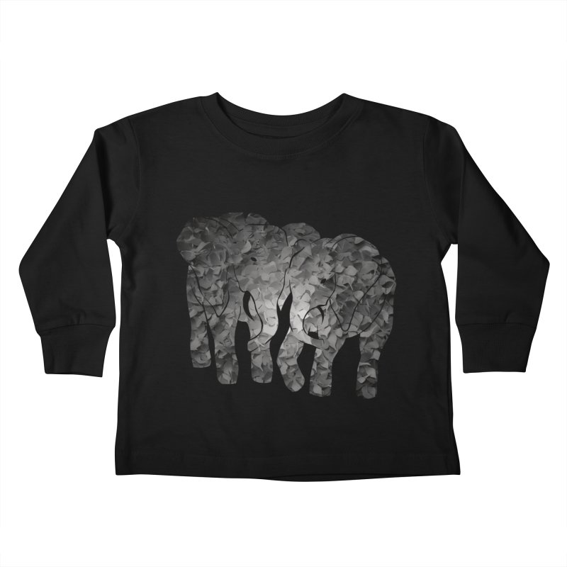 Two elephants Kids Toddler Longsleeve T-Shirt by MagpieAtMidnight's Artist Shop