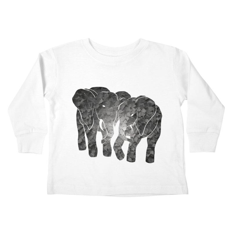 Two elephants Kids Toddler Longsleeve T-Shirt by MagpieAtMidnight's Artist Shop
