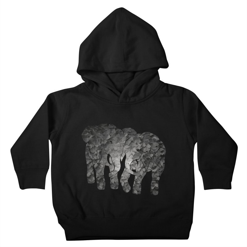 Two elephants Kids Toddler Pullover Hoody by MagpieAtMidnight's Artist Shop