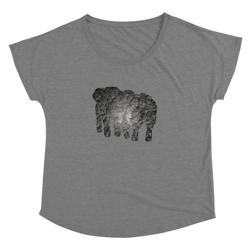 Two elephants Women's Dolman by MagpieAtMidnight's Artist Shop