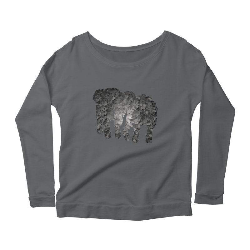 Two elephants Women's Longsleeve Scoopneck  by MagpieAtMidnight's Artist Shop