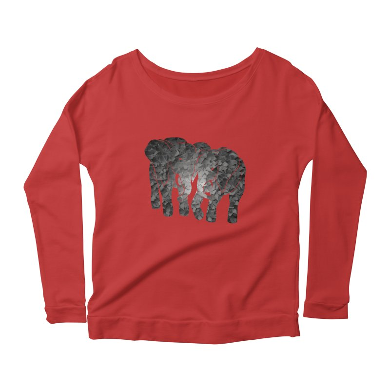 Two elephants Women's Scoop Neck Longsleeve T-Shirt by MagpieAtMidnight's Artist Shop