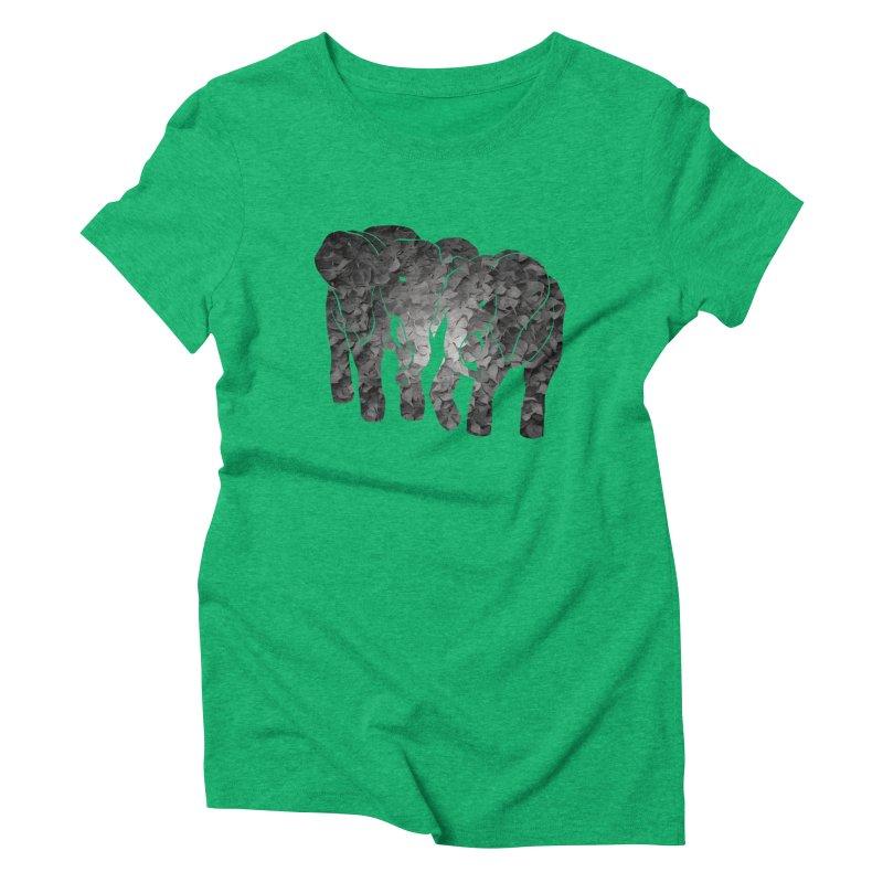 Two elephants Women's Triblend T-Shirt by MagpieAtMidnight's Artist Shop