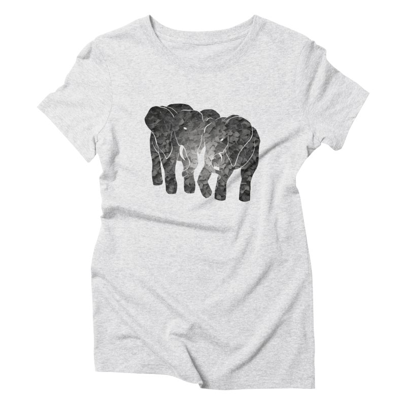 Two elephants Women's Triblend T-Shirt by MagpieAtMidnight's Artist Shop