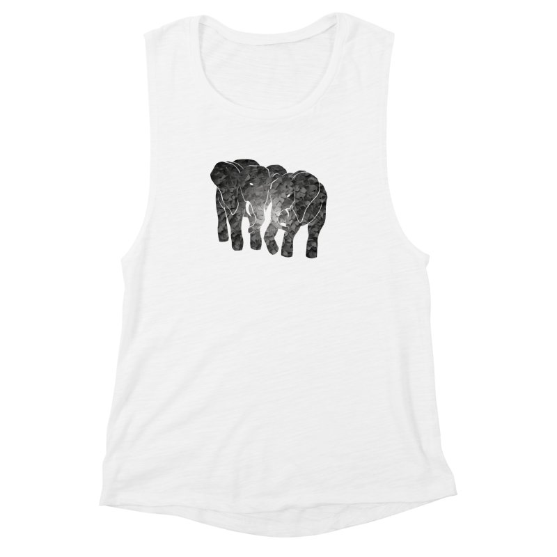 Two elephants Women's Muscle Tank by MagpieAtMidnight's Artist Shop