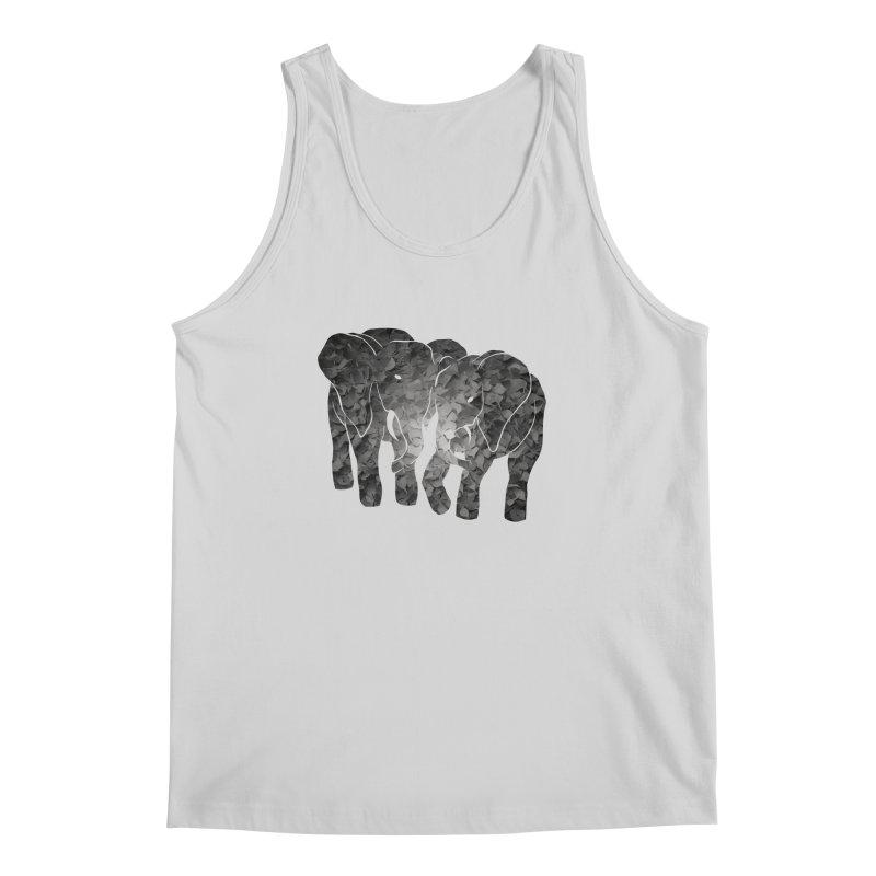 Two elephants Men's Regular Tank by MagpieAtMidnight's Artist Shop
