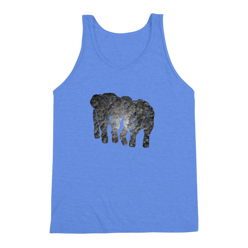 Two elephants Men's Triblend Tank by MagpieAtMidnight's Artist Shop