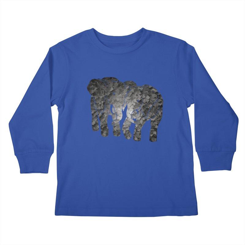 Two elephants Kids Longsleeve T-Shirt by MagpieAtMidnight's Artist Shop