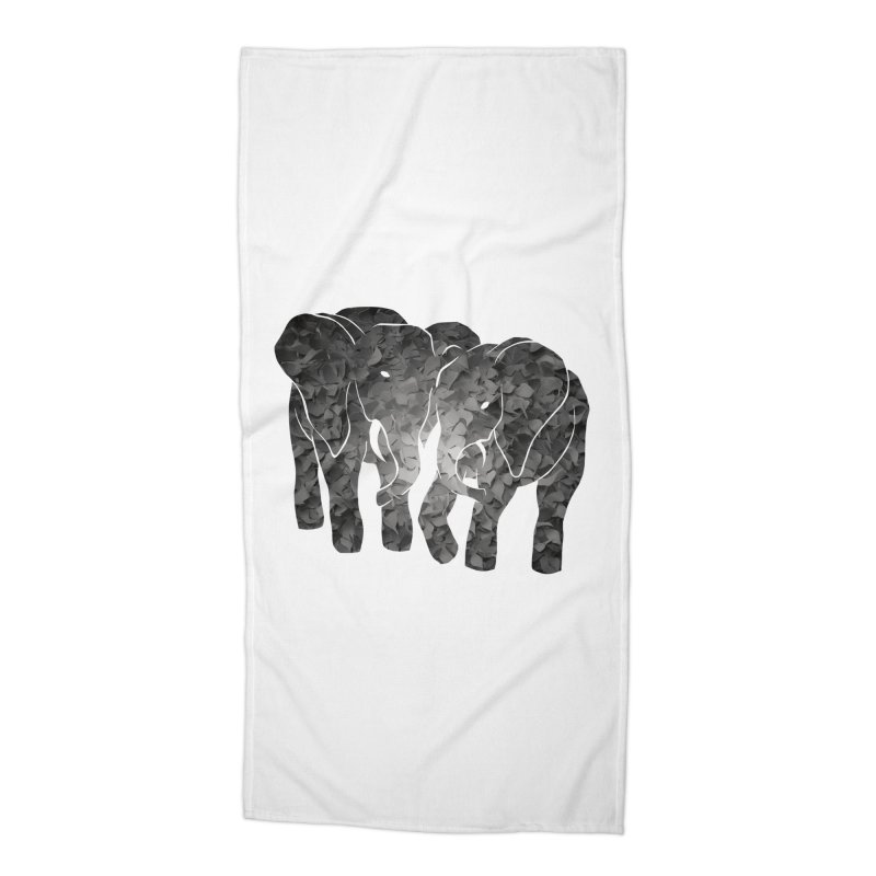 Two elephants Accessories Beach Towel by MagpieAtMidnight's Artist Shop