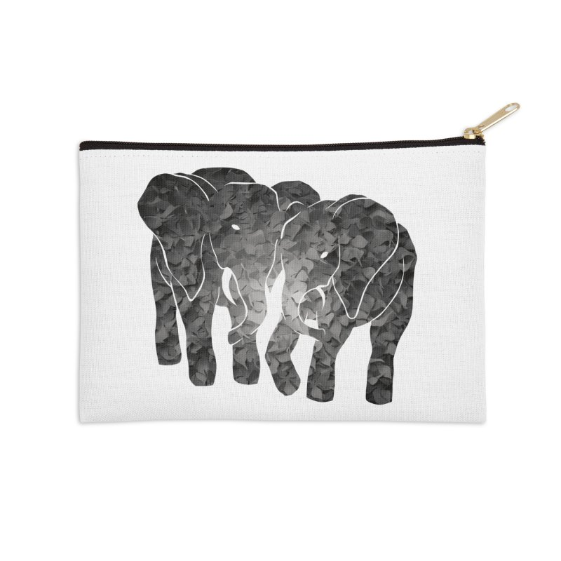Two elephants Accessories Zip Pouch by MagpieAtMidnight's Artist Shop