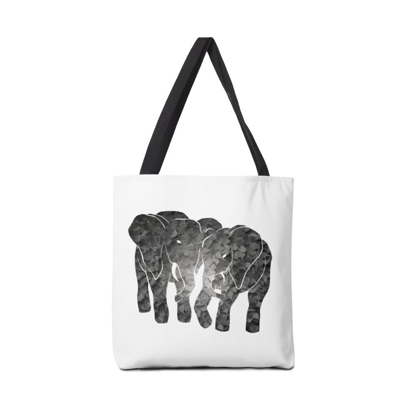 Two elephants Accessories Bag by MagpieAtMidnight's Artist Shop