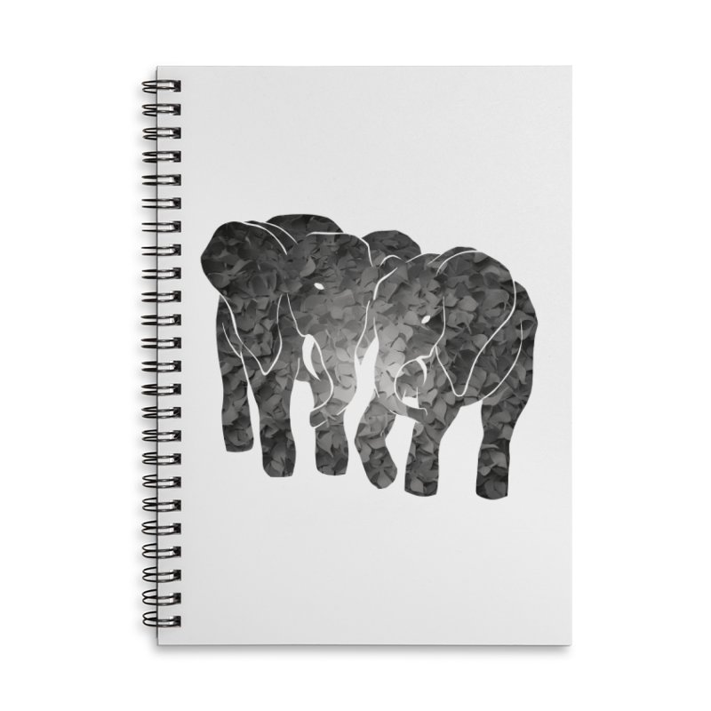 Two elephants Accessories Notebook by MagpieAtMidnight's Artist Shop