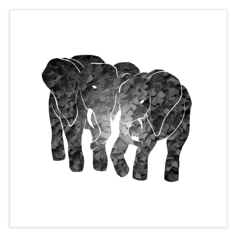 Two elephants Home Fine Art Print by MagpieAtMidnight's Artist Shop