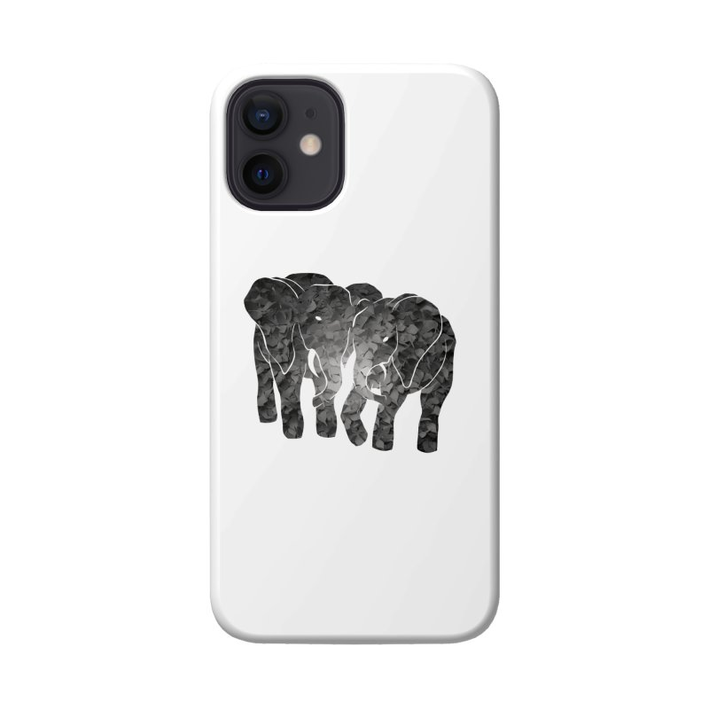 Two elephants Accessories Phone Case by MagpieAtMidnight's Artist Shop