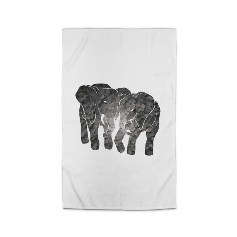 Two elephants Home Rug by MagpieAtMidnight's Artist Shop