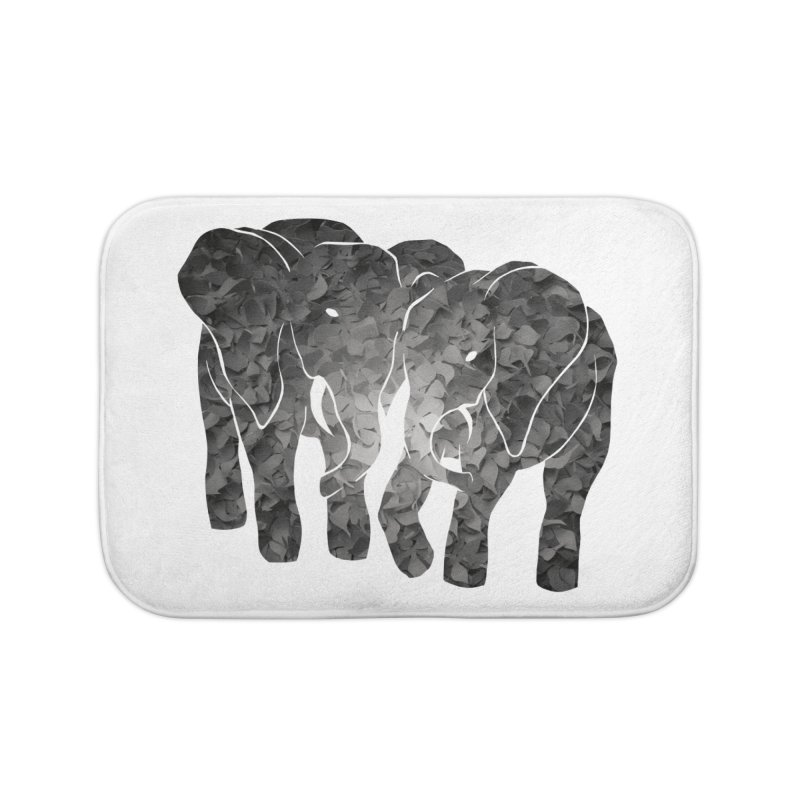 Two elephants Home Bath Mat by MagpieAtMidnight's Artist Shop