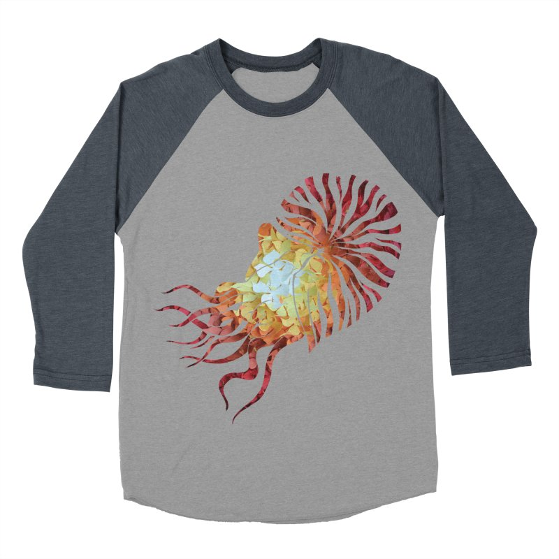 Nautilus Men's Baseball Triblend T-Shirt by MagpieAtMidnight's Artist Shop
