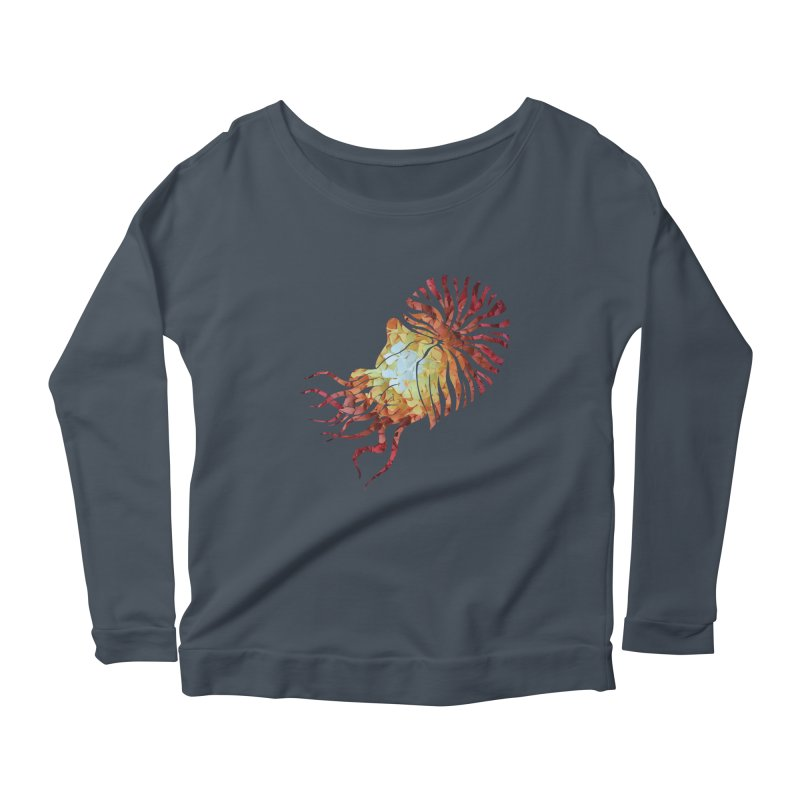 Nautilus Women's Scoop Neck Longsleeve T-Shirt by MagpieAtMidnight's Artist Shop