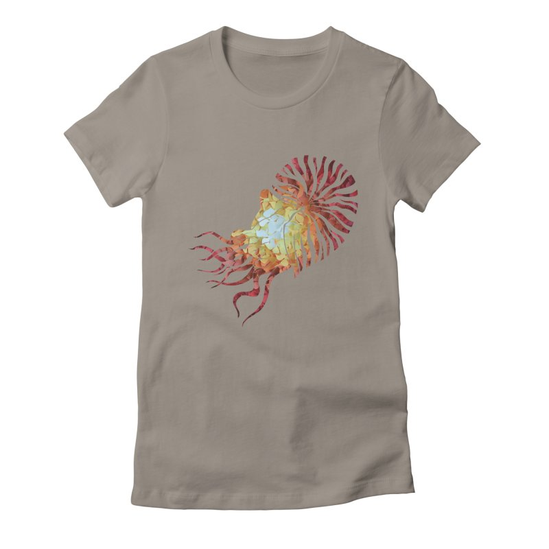 Nautilus Women's Fitted T-Shirt by MagpieAtMidnight's Artist Shop