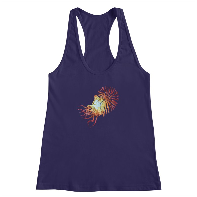 Nautilus Women's Racerback Tank by MagpieAtMidnight's Artist Shop