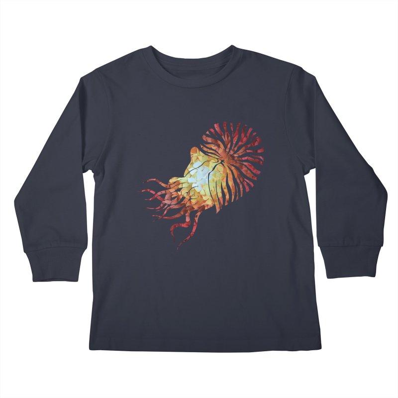 Nautilus Kids Longsleeve T-Shirt by MagpieAtMidnight's Artist Shop