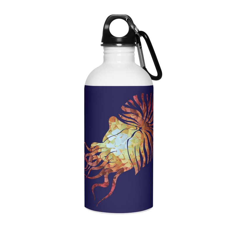 Nautilus Accessories Water Bottle by MagpieAtMidnight's Artist Shop