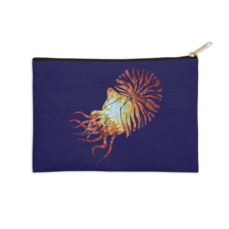 Nautilus Accessories Zip Pouch by MagpieAtMidnight's Artist Shop