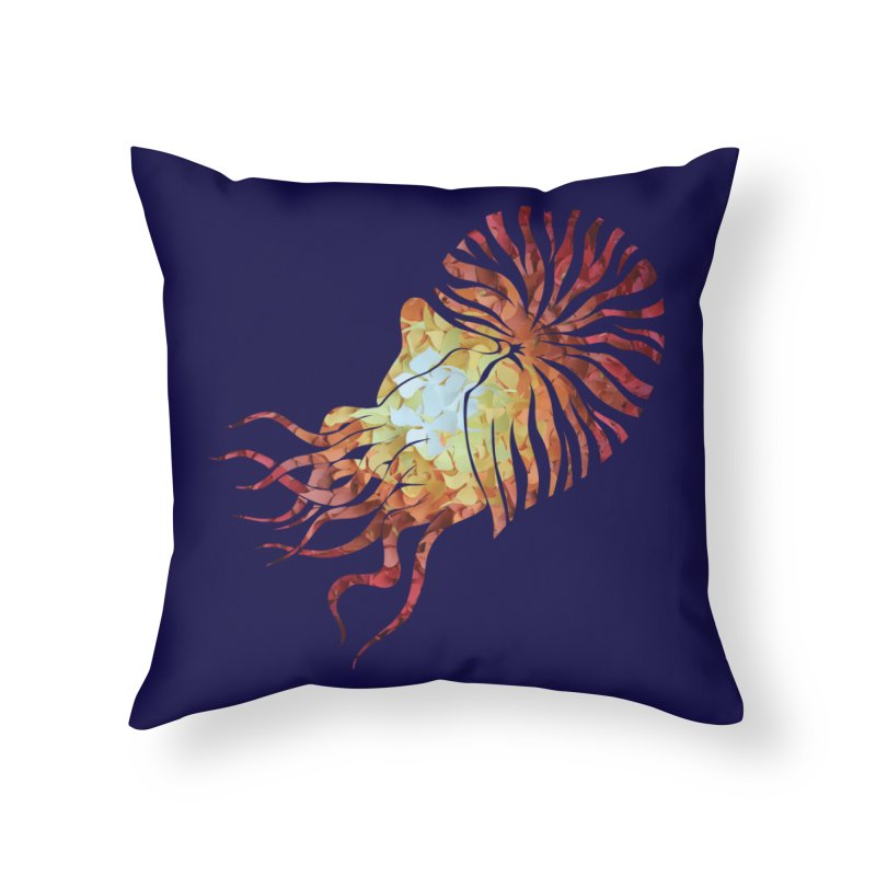 Nautilus Home Throw Pillow by MagpieAtMidnight's Artist Shop