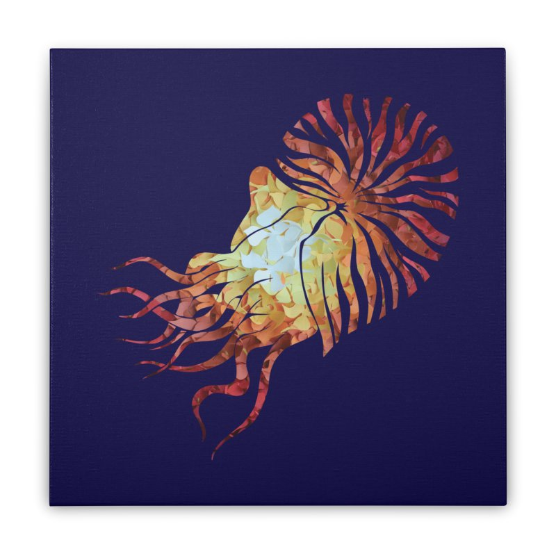 Nautilus Home Stretched Canvas by MagpieAtMidnight's Artist Shop