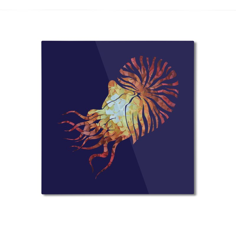 Nautilus Home Mounted Aluminum Print by MagpieAtMidnight's Artist Shop