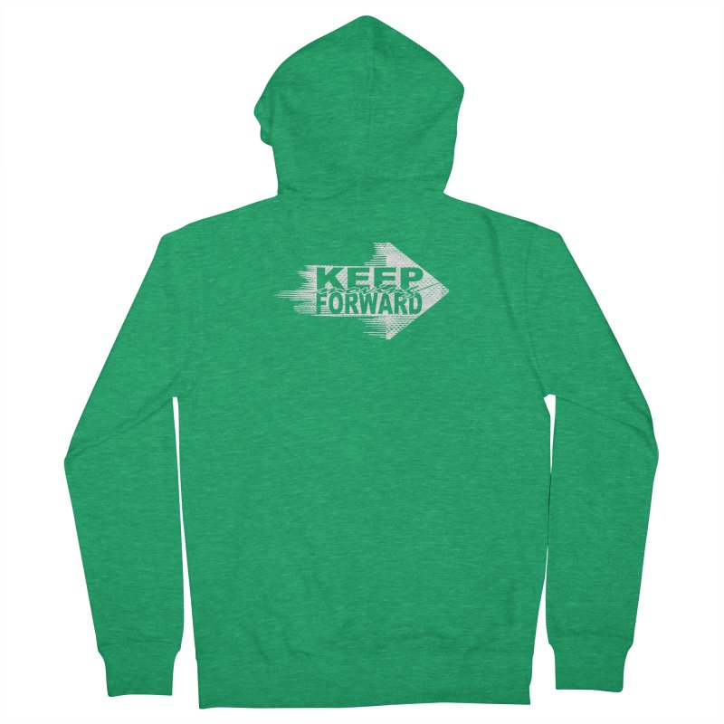 Keep Moving Forward Women's French Terry Zip-Up Hoody by Make2wo Artist Shop