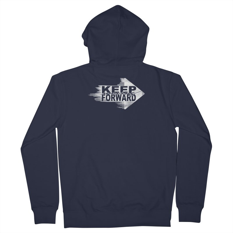 Keep Moving Forward Men's Zip-Up Hoody by Make2wo Artist Shop
